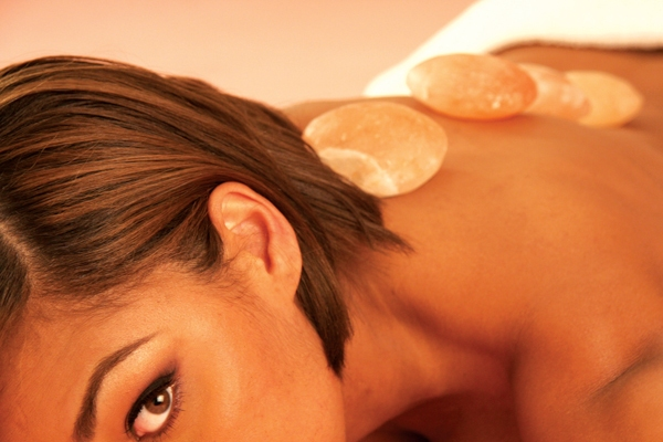 salt massage stone