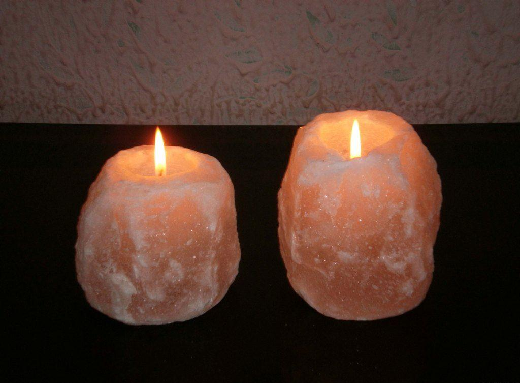 Natural Salt Candle holders