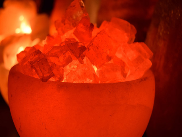 Himalayan Geometric Salt Lamps