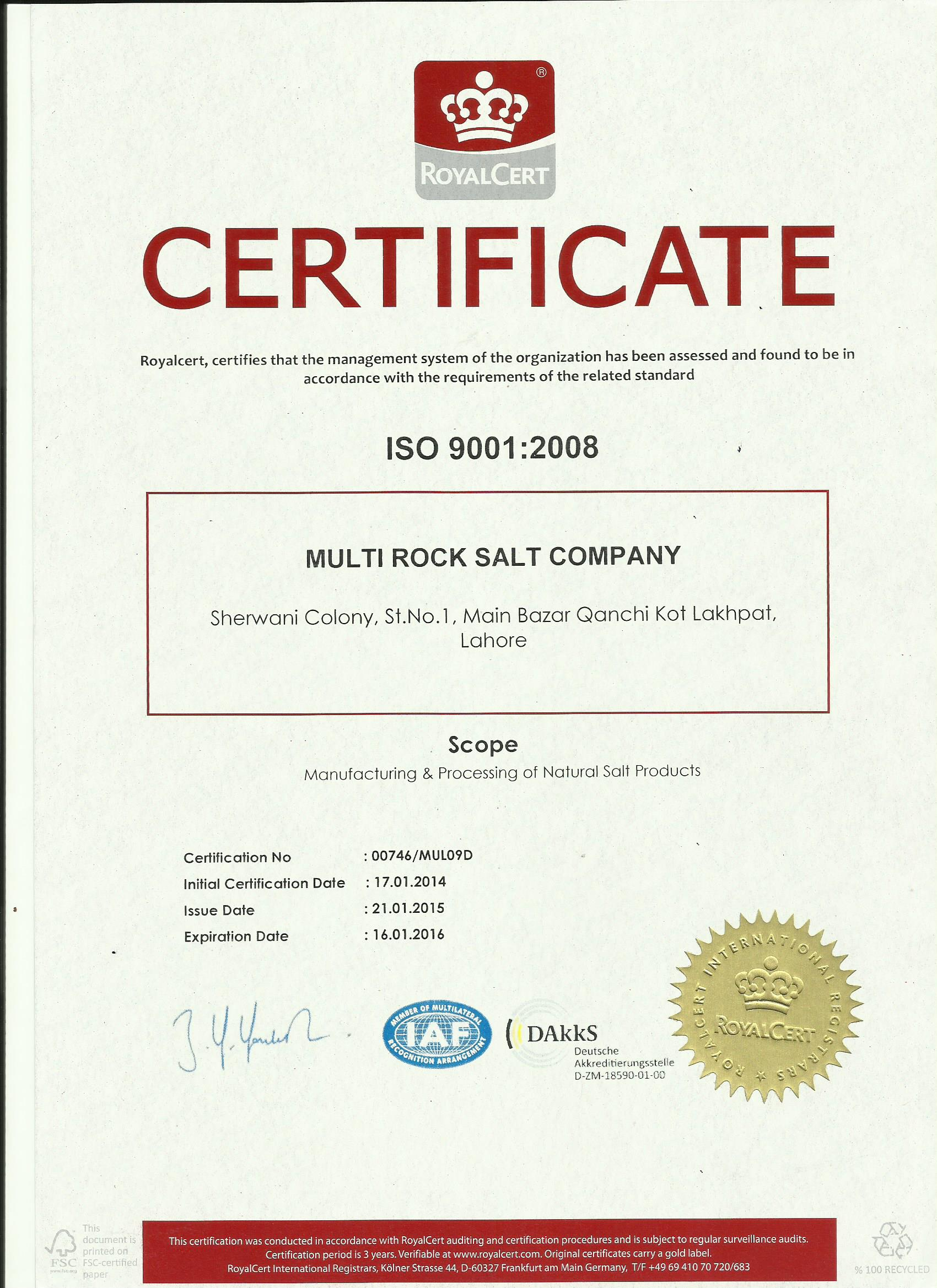 9000 iso certification